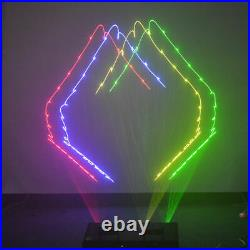 SHINP 4 Lens RGBY DMX 7CH Laser Projector Lights Disco Party Show DJ Stage Lamp