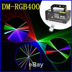 SUNY DMX Control 400mW RGB Laser Beam Scan Light Show DJ Event Party Stage Club