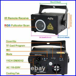 TF Card RGB Animation Scan Projector Remote DMX DJ Club Party Stage Laser Lights