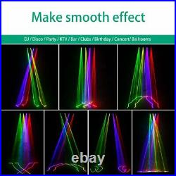 U'King Laser Lights RGBY 4 Beam DJ Stage Effect Lighting Disco Party Projector